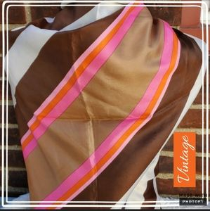 Vintage 70's square scarf